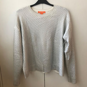 Shimmery cotton sweater